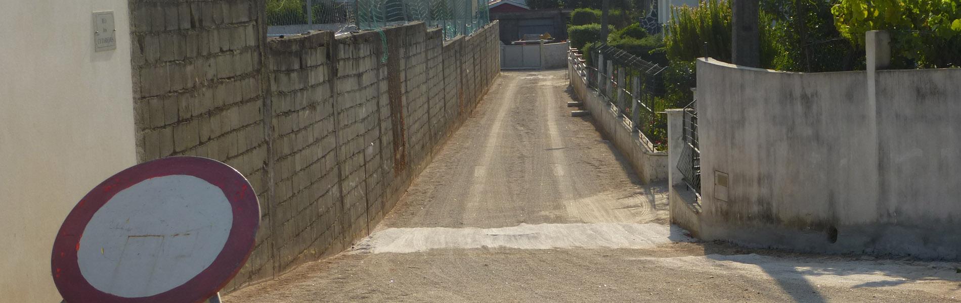 Mais melhoramentos em Lanheses - Rua dos Cutarelos recebe rede de saneamento e repavimentação
